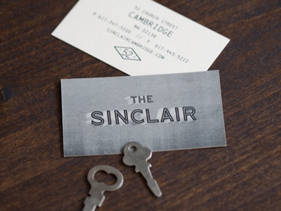 The Sinclair oat branding logo mark business card restaurant bar club venue industrial vintage