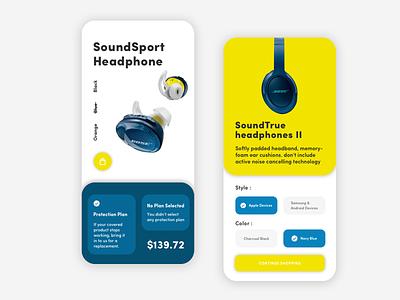 Bose App UI Design android visual item product bose iphone design iphone x ux app ui