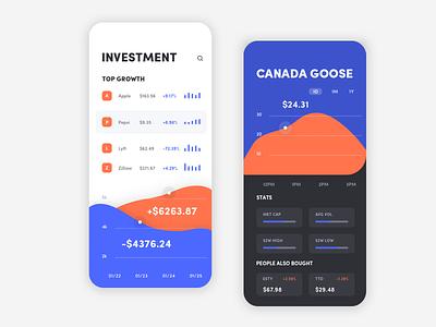 Investment Product UI Design finance investment graphic design data viz data visual design visual iphone x iphone design ux app ui