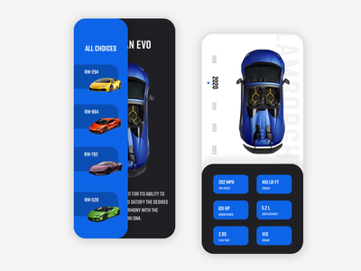 Car Mobile Web UI Design