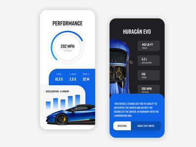 Car Mobile Web UI Design