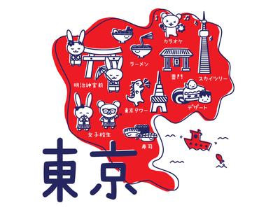 A Little Map of Tokyo