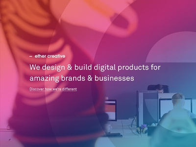 The same but different something blue something borrowed something old something new website agency design gradient