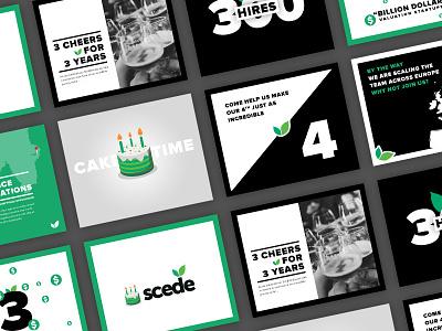 Third Birthday dollars money map location recruitment green graphics slides cake birthday