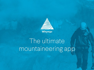 Let's go climb some mountains! landing page simple larsseit ios mountains design app blue