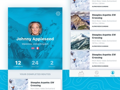 Profile design for something cool we're working on topography blur ios profile design blue app