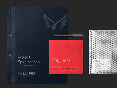 Kestrel Technologies   Project tchnology fabrication kestrel typography branding logo dark website