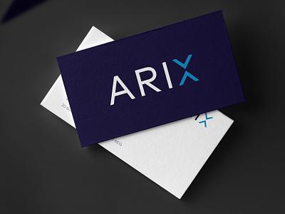 Arix Bioscience Branding design blue logo branding vector typography icon x finance biotechnology biotech fintech financial