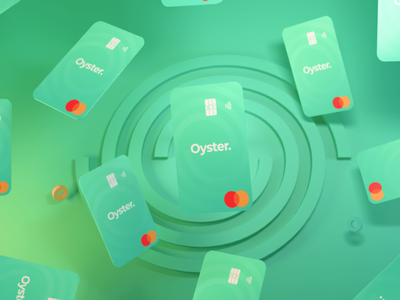 Oyster Cards card design card illustration branding ui space cinema 3d ilustration 3d