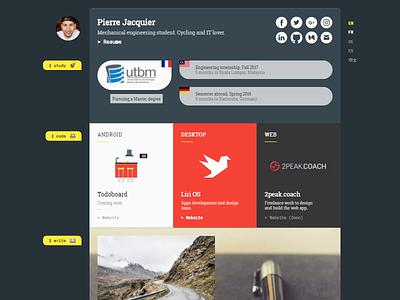 New Personal Website website personal portfolio