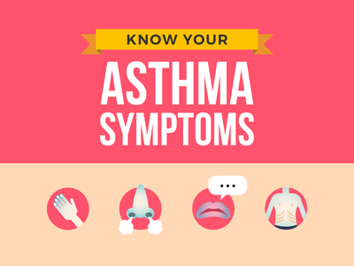 Infographic: Asthma Symptom Infographic vector illustration education infographics icon doctor research symptom asthma healthcare health infographic