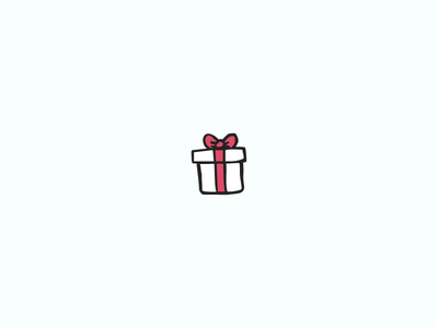 Present handdrawn illustration icon present gift christmas holiday