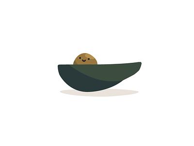 Avocado Pit fruit illustration pit avocado