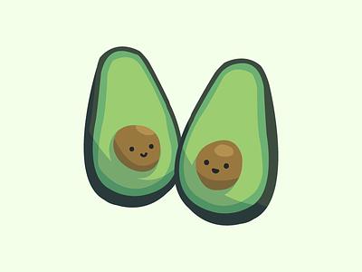 Twin Avocados vistaprint avocados halves cute illustration fruit avocado