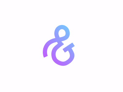 Ampersand symbol and gradient ampersand