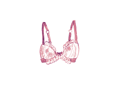 Party Time 0.2 illustration watercolor underpants bra lace brassiere