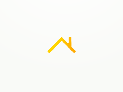 A place for home home housing house real estate roof line monoline logo