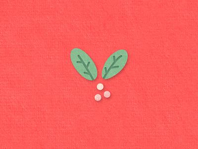 Mistletoe paper cut layered paper cut paper holiday xmas christmas mistletoe