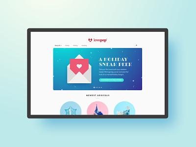 Lovepop: Holiday Sneak Peek lovepop envelope sneak peek homepage banner holiday