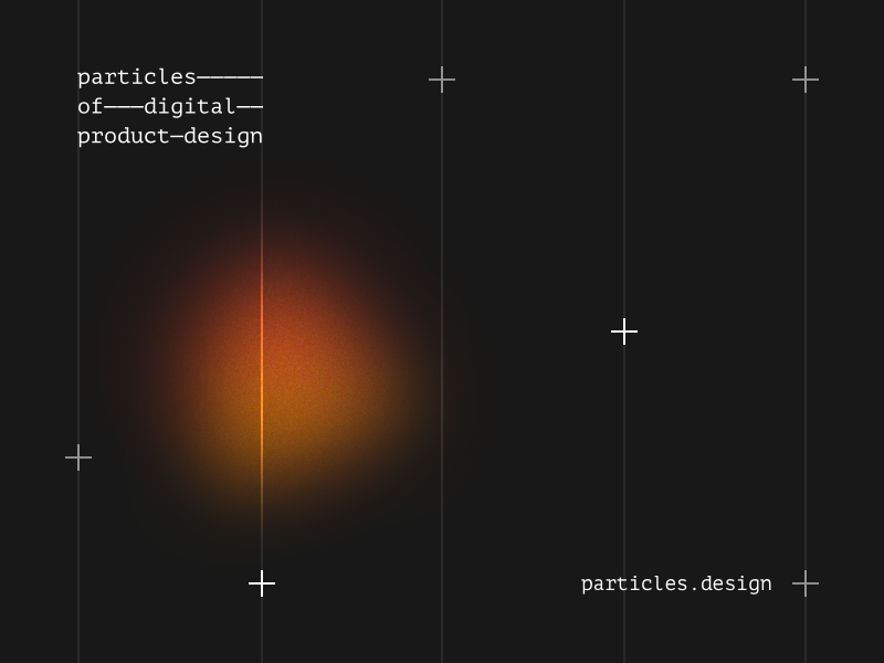 particles.design landing page product design landing grid ux ui web webdesign
