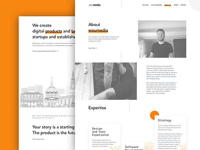 Woumedia – about us webdesign web ux ui team page landing animation agency
