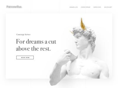 Can't tell 🙈 🙊 🙉 ux ui sculpture clean white landing web exclusive app