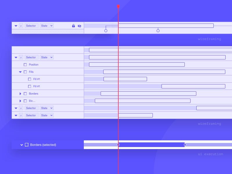 Phase.com – Timeline ui ux wireframe wip phase app blue timeline