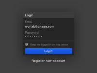 Phase – Login Screen?