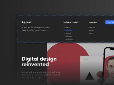 New Landing Page design webdesign app phase landing web blue ux ui