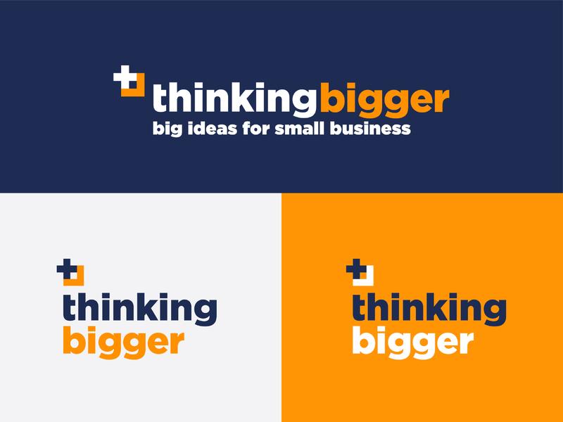 Thinking Bigger business rebrand brand publishing magazine print vector logo design branding