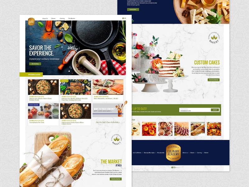 Kearney Culinary Academy Homepage web academy culinary homepage web  design website food ui ux brand design branding