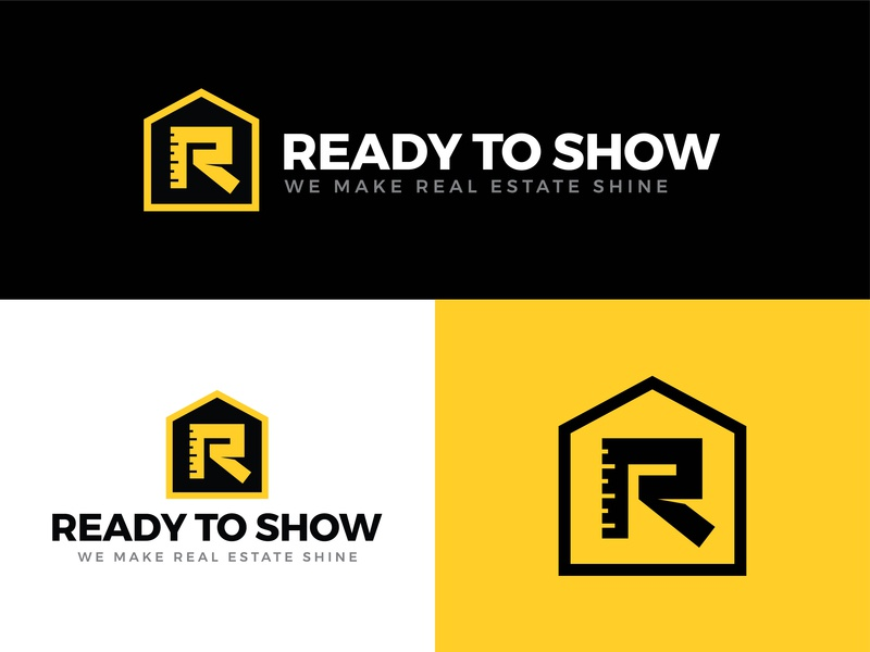Ready to Show mark renovation construction repairs real estate vector typography brand logo design branding