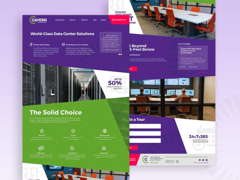 Cavern Technologies homepage design website design data technology homepage webdesign websites web ux ui logo brand design branding