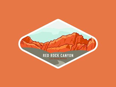 Red Rock Canyon badge illustration las vegas red rock