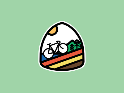 Coastal Cycling Sticker