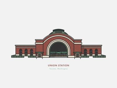 Tacoma Union Station Illustration