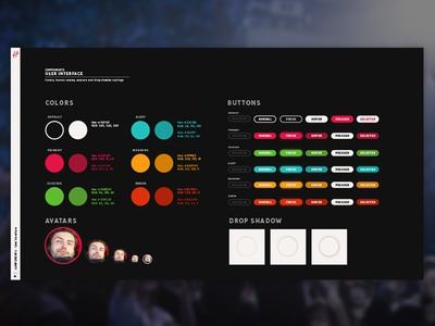 Hero Style Guide - UI P1 frontend web design interaction components ux ui user interface style guide