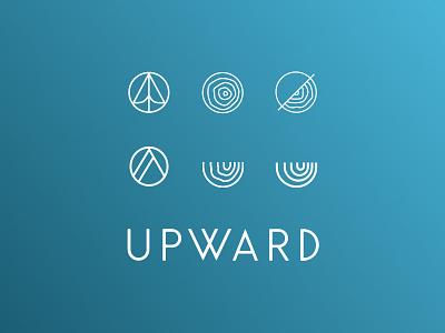 Logo Variations upward tree rings draft variations logo