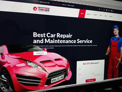 WIP Car Repair And Maintenence Service car rental car repair website ux ui landing repair wash servicing shop auto