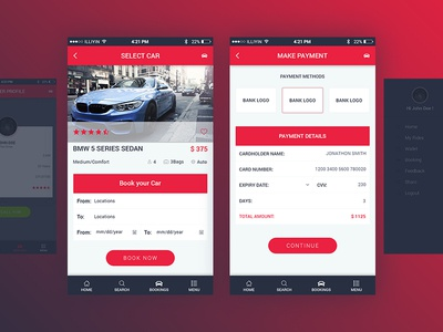 Car Rent Mobile UI Kit