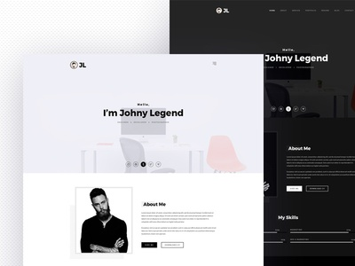 Johny Personal Portfolio Resume Template