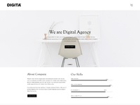 01 01 digita digital minimal agency portfolio home