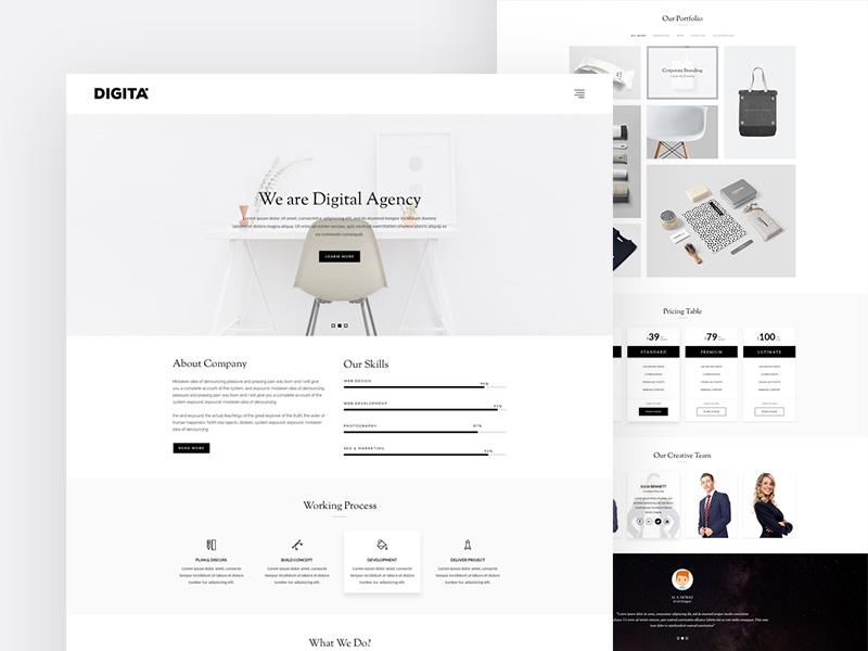 Maxive Minimal Portfolio WordPress Theme clean design clean theme