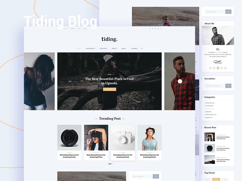 Tiding Blog UI Concept #01 minimal blog blog ui design personal blog web ui blog