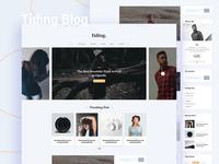 Tiding Blog UI Concept #01
