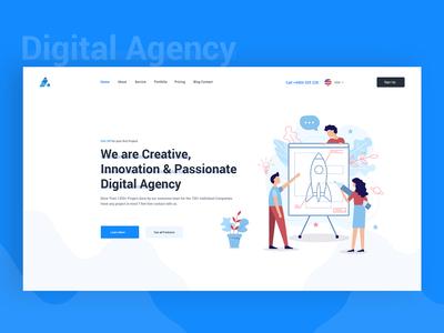 SEO and Digital Agency Header Explanation