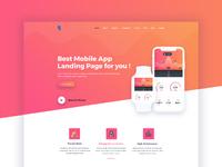 Bufet app landing page concept