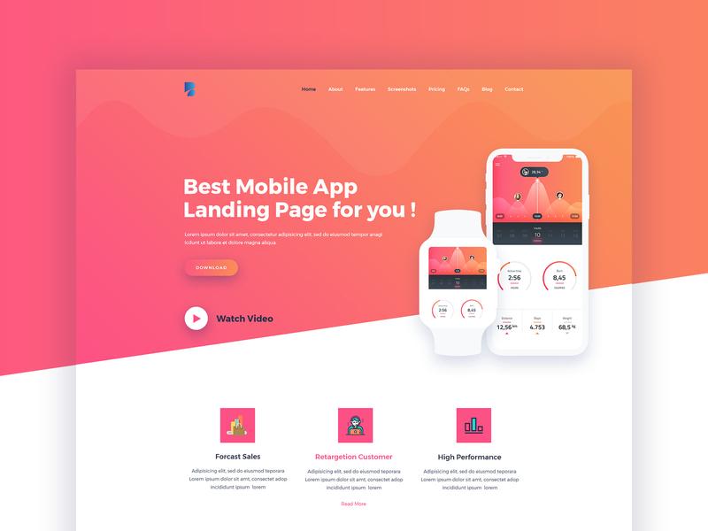 Bufet App Landing Page Concept store shop app landing mobile app creative ux startup illustration agency landing page app ui
