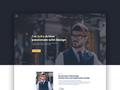 Arthor Personal Portfolio Website Concept