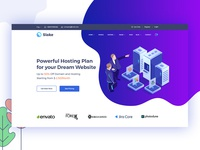 Slake Isometric Domain Hosting Website Concept  #2